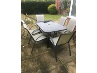 Garden Furniture, Table & Chairs Glass Top