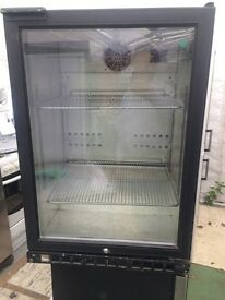 Stainless steel glass door undercounter refrigerators good condition with guarantee bargain