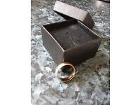 B.Bros Gents / Ladies 9ct Gold Wedding Ring (Hallmarked 9-.376 D)SIZE-O