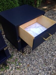 Night stands : navy & gold  London Ontario image 3