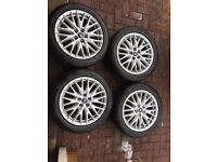 """17"""" ford Zetec s alloys with tyres"""