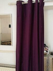 Ikea Purple Suedette Curtains