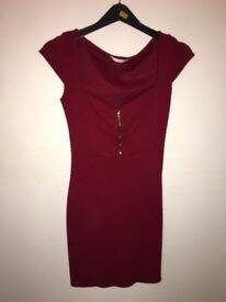 Miss Selfridge Deep Red Dress Size 6