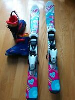 perfect set for a girl: ski elan 90 cm and boots Salomon T1