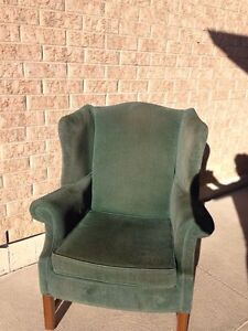 Green wingback chair Windsor Region Ontario image 2