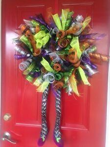 """Halloween wreath on 14"""" frame"""