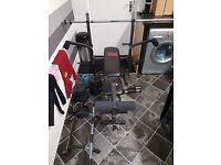Weights lifting bench