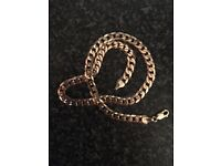 Solid 9ct gold curb chain. Gold chain
