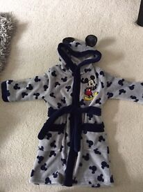 Mickey Mouse dressing gown age 2-3