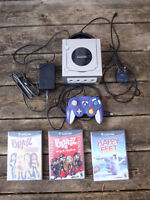 Nintendo Gamecube Console with 3 Games