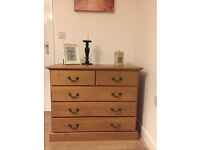 Very rare, quality furniture chest of drawers, solid oak wood