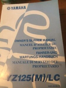 Yamaha YZ125(M)/LC Owners Service Manual
