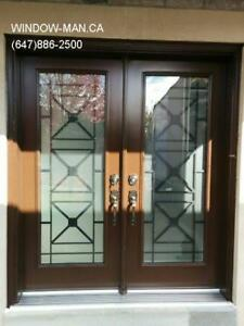 Entrance Entry Front Glass Iron Door  GTA and surroundings