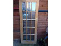 Internal glass panelled door