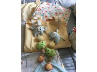 Nursery /cot bed set/ lollipop lane