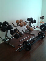 COMMERCIAL DUMBBELL RACK (SALE OR TRADE)