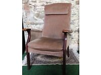 Parker Knoll armchair with battery operated lumber support