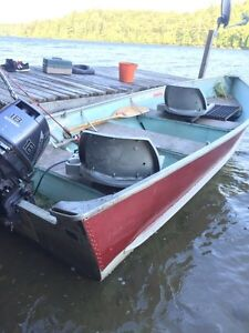 Aluminum Boat with 18HP Motor