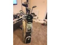 Used womens golf set, bag, clubs, tees, balls & cover