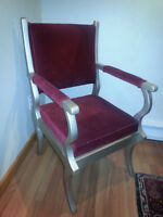 Cool Red and Silver Chair
