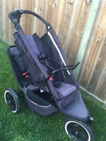 Phil & ted single ,double tandom stroller with car seat adapter