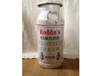 Rare Rodda's milk churn £55 (£75 inc del). perfect for a shabby chic accessory/quirky garden planter