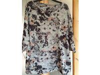 New grey/black jumper size 12