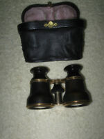 EARLY 1900's OLD FRENCH ANTIQUE CASED OPERA GLASSES