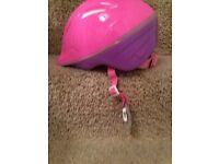 Girls safety helmet.