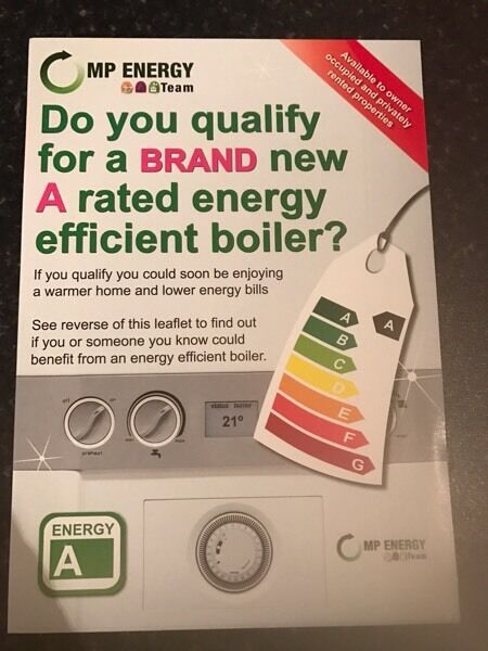 Free Boiler ( gas or oil ) and free loft insulation