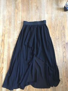 black high-low skirt - pick up only.