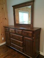 Dresser with Mirror, Bed Side Tables and Tall Dresser