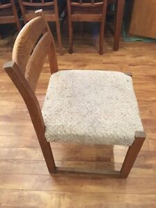 3 chairs + side table (all real wood) CAN DELIVER