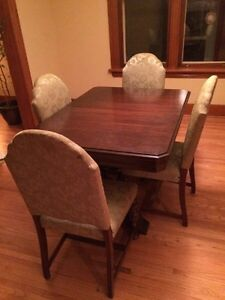 Antique table and China cabinet