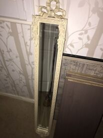 Shabby chic vintage style mirror