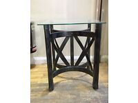 Pair of Metal & Glass small tables