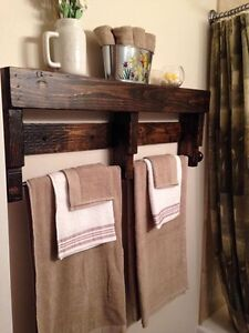Rustic towel racks