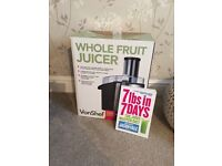 Vonshef Whole Fruit Juicer with 7lbs in 7 days Book thrown in