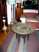 ♥ Table de Salon Vintage Marocaine en Brass ♥