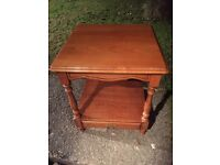 Square 2 tier YEW coffee table CAN DELIVER