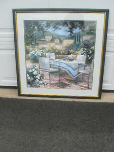 BEAUTIFULLY FRAMED OLD VINTAGE OIL PAINTING REPRODUCTION