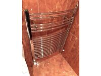 Bathroom towel radiator chrome as new