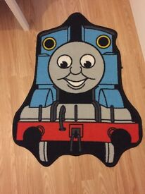 Thomas the tank bedding, curtains and rug