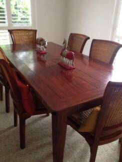 Dining Table + 6 Chairs, Side Table Calamvale Brisbane South West Preview