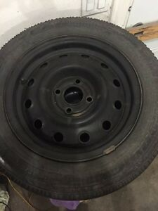 "4x100 14"" tires on rims"