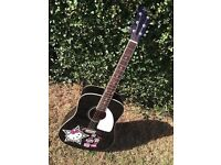 Fender Squier Hello Kitty Full Size Dreadnought Acoustic Guitar - Very Rare - £75