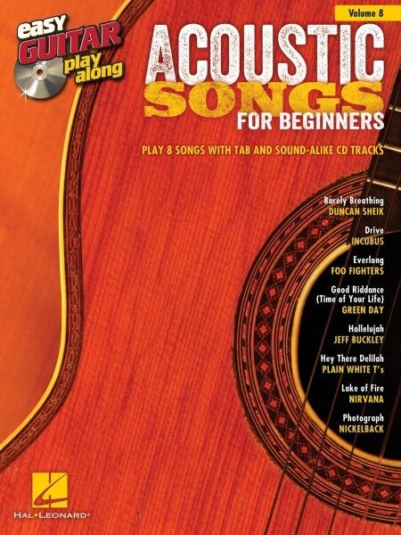 Acoustic Songs for Beginners - Easy Guitar Play-Along Book and CD NEW 000103240