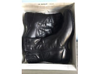 Brand new ladies Clarks black leather comfy boots,size UK 7,cost £135,bargain at £45,no offers