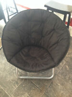 Black Fold Out Chair- Perfect for dorm rooms