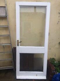 Timber glass panel door